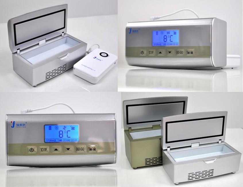 胰岛素充电小冰箱   【商品名称】便携式药品冷藏盒 【商品型号】f图片