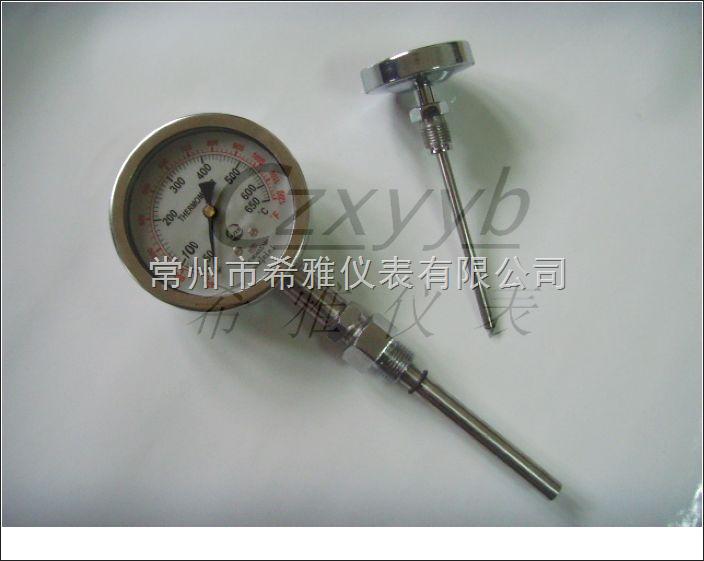 充油防震双金属温度计