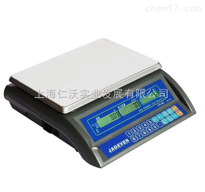 JADEVER电子秤/JCE-3kg/钰恒JTS-BC-3kg连接不干胶打印电子秤
