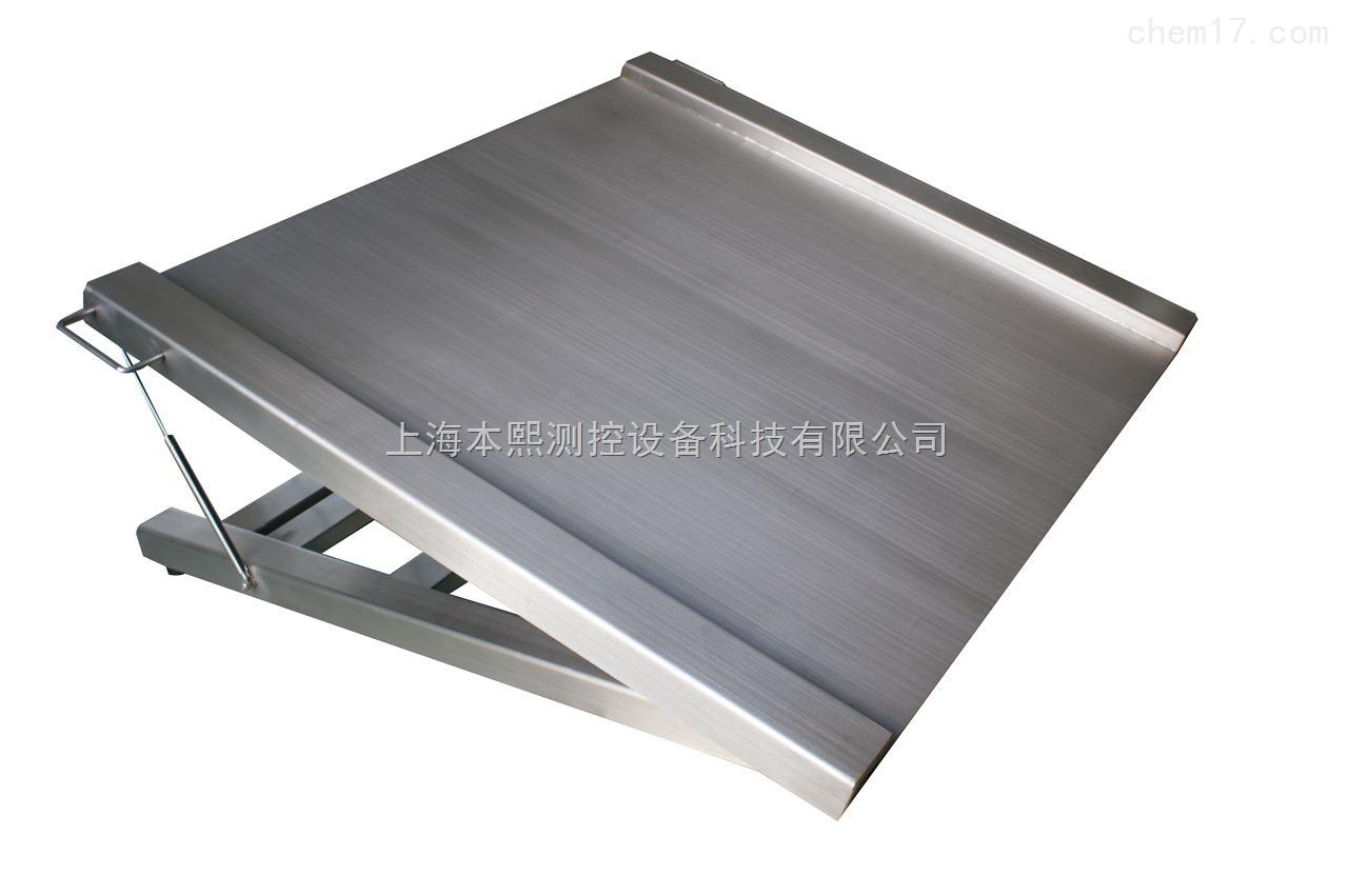 5吨不锈钢落地式电子称,碳钢材质超低地磅称