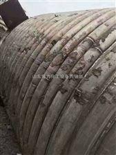 54二手50吨外盘管加热不锈钢反应釜壁厚26mm