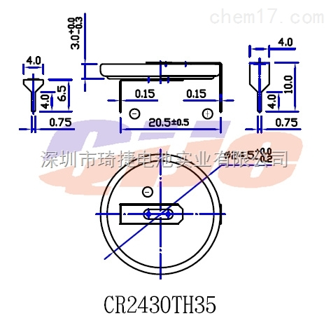 cr2430纽扣电池 3v扣式电池cr2430电池cr2430焊脚电池