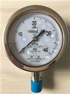 YE-100B不锈钢膜盒压力表上海自动化仪表四厂