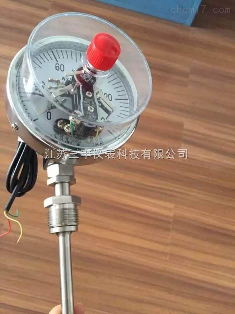可动螺纹电接点双金属温度计