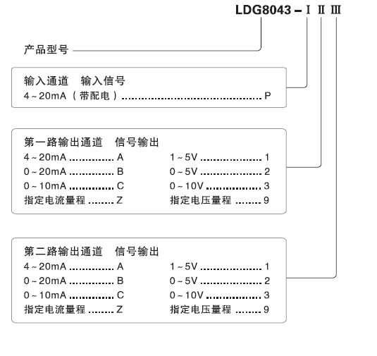 ldg8043配电隔离器(一入二出)
