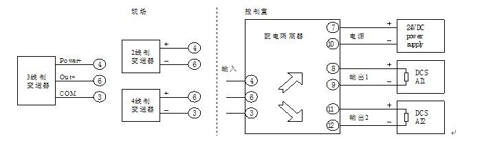 苏州迅鹏新品xp1502e配电隔离器(3线制)