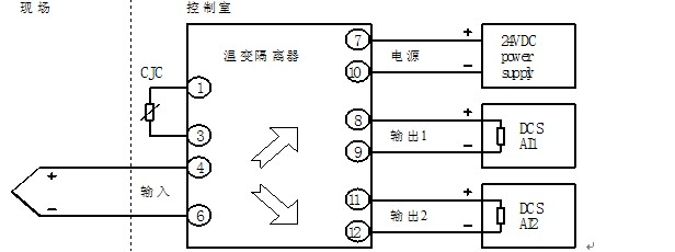 苏州迅鹏新品xp1503e热电偶温变隔离器