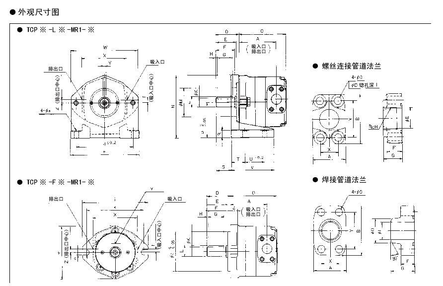 丰兴低噪音内接式齿轮泵技术资料
