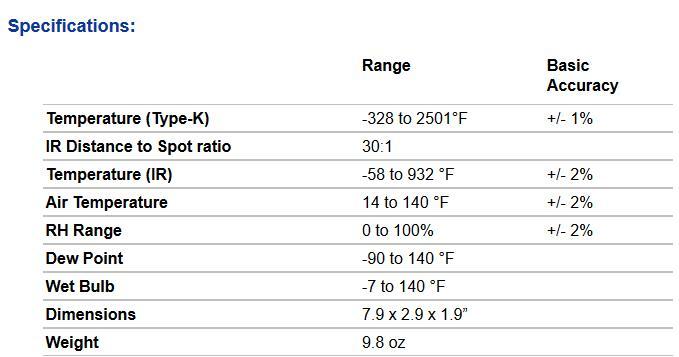 美国TIF3110干湿计