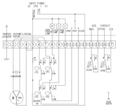 z10电动装置接线图及配电箱链接电子元件接线图