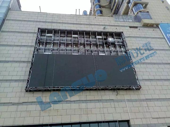 广场落地式led显示屏钢结构基础包安装报价