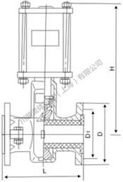 气动管夹阀尺寸图1