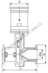气动管夹阀尺寸图2