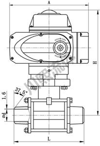 精小型电动球阀尺寸图
