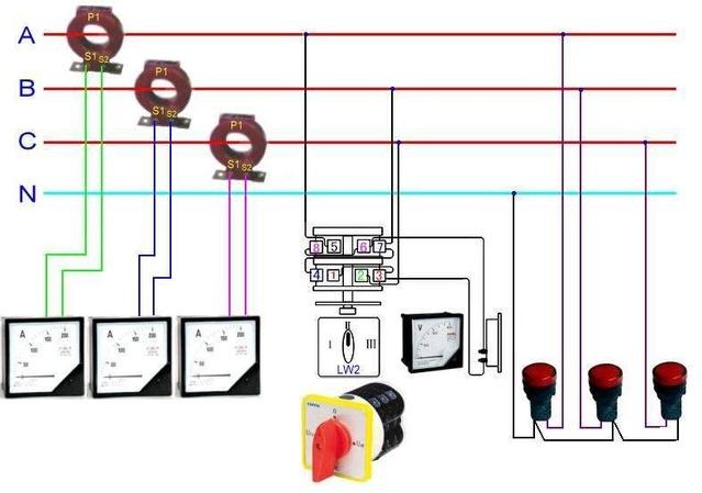 电压互感器实物接线图