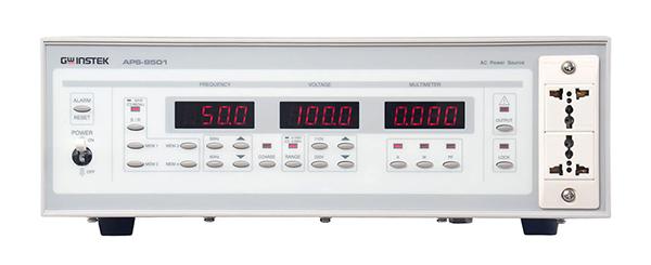 台湾固纬APS-9501交流电源-产品叙述 APS系列是单组双输出,300到1000VA的线性交流电源。过电流和过温度保护可以使APS和负载免受意外损坏。输出具有高精确度的有效值和小于0.5%THD地低失真度,面板锁定功能可以避免误操作,三组LED显示可以同时显示频率、电压、电流。面板可设定储存和呼叫功能为一体,内建软体校正功能,可减少维修的机率。APS系列适合要求高精确度和高安全性的中型实验室及产品测试。 台湾固纬APS-9501交流电源-产品特点 True RMS功率表 寬廣的輸出電壓/頻率範圍 4