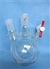 二口反应球瓶(厚壁.四氟节门)